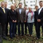 Dirk Liebe, Dr. Gregor Költzsch, Karin Halsch, Christian Paulus, Andreas Geisel, Reimund Peter, Jutta Feige, Kathrin Söhnel, Ole Kreins (v.l.n.r.)