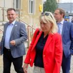 Mit dem Vorsitzenden des Fördervereins Rüdiger Schwarz und dem Regierenden Bürgermeister Michael Müller. Foto: Erik Gührs